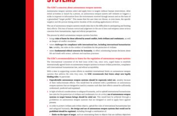자율무기체계에 대한 ICRC의 입장